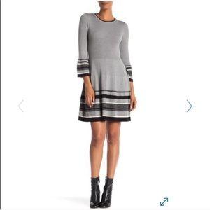 Eliza J Fit & Flare Bell Sleeve Sweater Dress